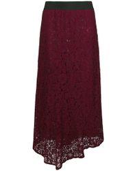 Blugirl Blumarine - Lace Long Skirt - Lyst