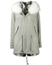 Mr & Mrs Italy - Fur Collar Parka Coat - Lyst