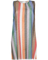 Reality Studio - Striped Mesh Vest - Lyst