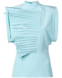 Givenchy - Pleated Ruffles Top - Lyst
