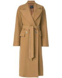 Erika Cavallini Semi Couture - Double Breasted Coat - Lyst