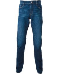FRAME - Distressed Straight Fit Jeans - Lyst