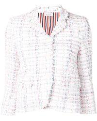 Thom Browne Braided Ribbon Tweed Sport Coat
