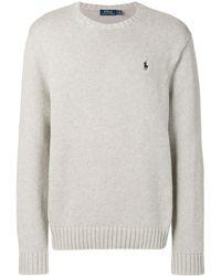 Polo Ralph Lauren Толстовка С Вышитым Логотипом - Серый