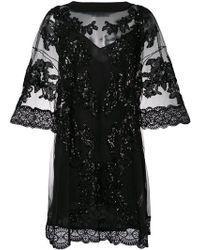 Amen - Vestido de tul con apliques - Lyst