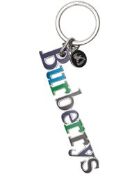 Burberry - Schlüsselanhänger mit Logo - Lyst