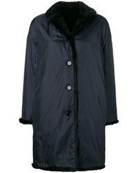 Aspesi - Buttoned Coat - Lyst