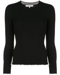 MILLY - Ribbed Knit Sweater - Lyst