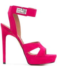 bf772468030 Givenchy Mid Heel Sandals in Pink - Lyst
