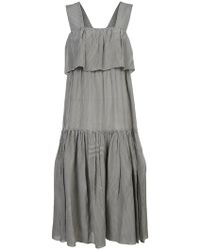 Sara Lanzi - Vichy Ruffle Tiered Dress - Lyst