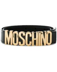 Moschino - Leather Logo Belt - Lyst