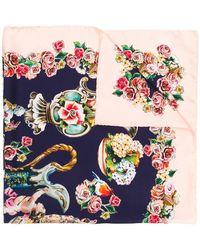 Dolce & Gabbana - Printed Silk Scarf - Lyst