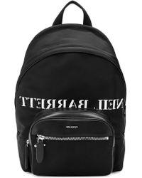 Neil Barrett - Logo Print Backpack - Lyst