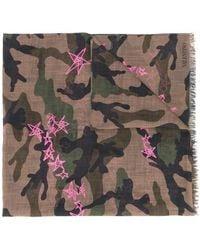 Valentino | Camouflage Star Print Scarf | Lyst