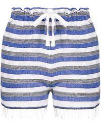 lemlem - Striped Drawstring Shorts - Lyst