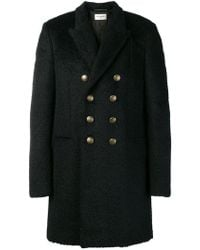 Saint Laurent - Double-breasted Fitted Coat - Lyst