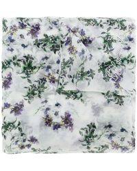 Blumarine - Floral Embellished Scarf - Lyst
