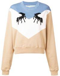Off-White c/o Virgil Abloh - Twisting Horses Sweater - Lyst