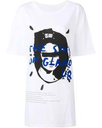 Maison Margiela - Bedrucktes T-Shirt aus Jersey - Lyst