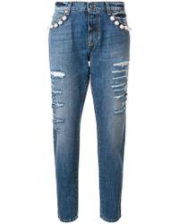 Gaëlle Bonheur - Pearl Embellished Jeans - Lyst