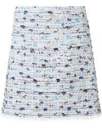 Blumarine - Gonna Bouclè Short Skirt - Lyst