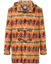 Hysteric Glamour - Printed Duffle Coat - Lyst