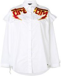 DIESEL - Slogan Embroidered Shirt - Lyst