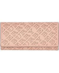 Burberry - Perforated Logo Leather Continental Wallet - Lyst
