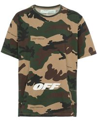 Off-White c/o Virgil Abloh - Camouflage T Shirt With Text - Lyst