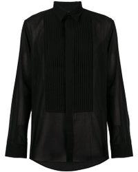 Givenchy - Pleated Bib Shirt - Lyst