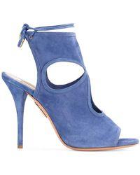 Aquazzura - Blue Suede Sexy Thing Heels - Lyst