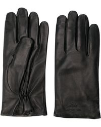 Emporio Armani - Embossed Logo Gloves - Lyst