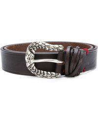 Eleventy - Textured Buckle Belt - Lyst