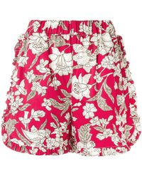 La Doublej Editions | Lilium Ruffle Shorts | Lyst