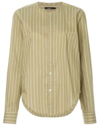 Bassike - Striped Collarless Shirt - Lyst
