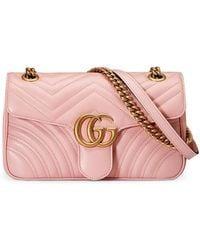 40f1e78be095f3 Gucci Gg Marmont Matelassé Shoulder Bag in Natural - Lyst