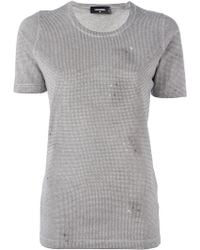 DSquared² - Microstud Accent T-shirt - Lyst