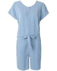 Closed - Striped Playsuit - Lyst
