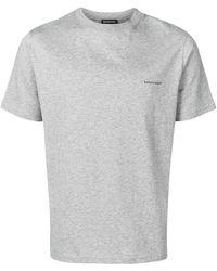 d373ebbb Balenciaga Paris Printed T-shirt in Black for Men - Lyst