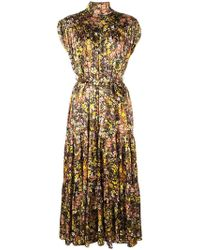 360b754aec18 Lyst - Christopher Kane Love Heart Print Strappy Dress in Black