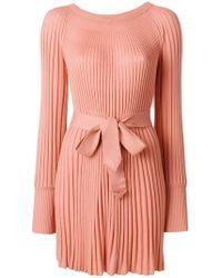 Twin Set - Pleated Knit Dress - Lyst