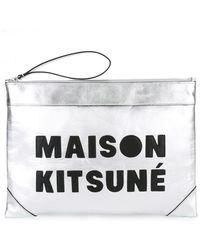 Maison Kitsuné - Logo Patch Clutch - Lyst
