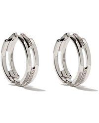 Maison Dauphin - 18kt White Gold And Diamond C3v Alternate Setting Earrings - Lyst