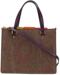Etro - Tabbed Paisley Tote Bag - Lyst