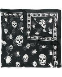Alexander McQueen Платок С Принтом Skull - Черный