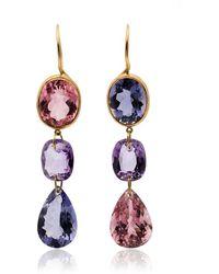 Marie-hélène De Taillac - Multicoloured Gemstone Drop Earrings - Lyst
