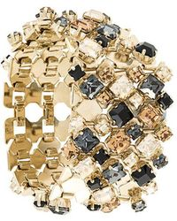 Lanvin - Thick Embossed Stone Cuff - Lyst