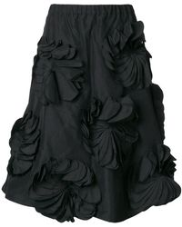 Paskal - Midi Skirt With Floral Applique - Lyst
