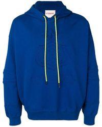 e1a78e511a1293 Iceberg - Logo Embroidered Hooded Sweatshirt - Lyst