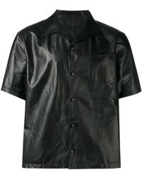 Prada - Camp Collar Shirt - Lyst